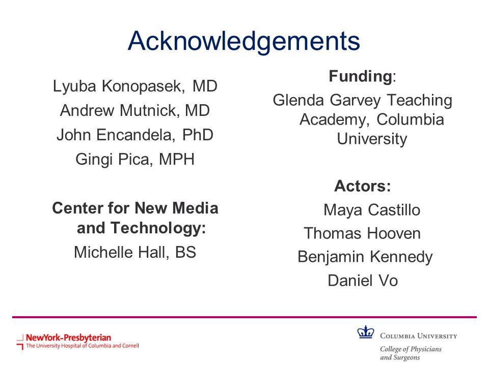 Acknowledgements Funding: