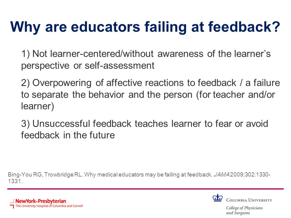 Why are educators failing at feedback