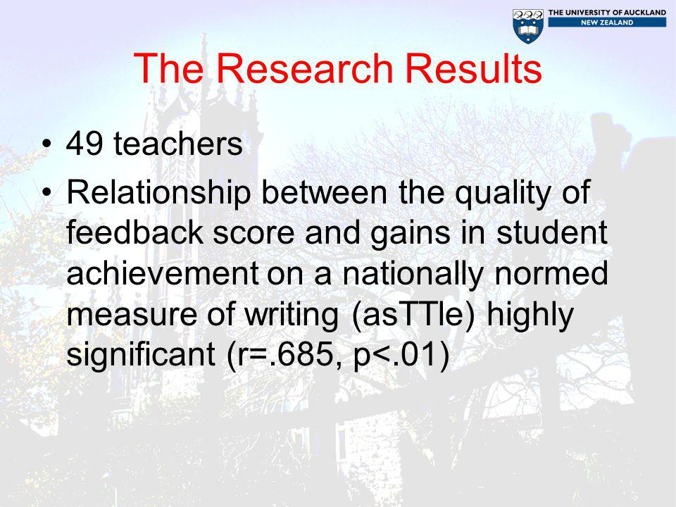 The Research Results 49 teachers