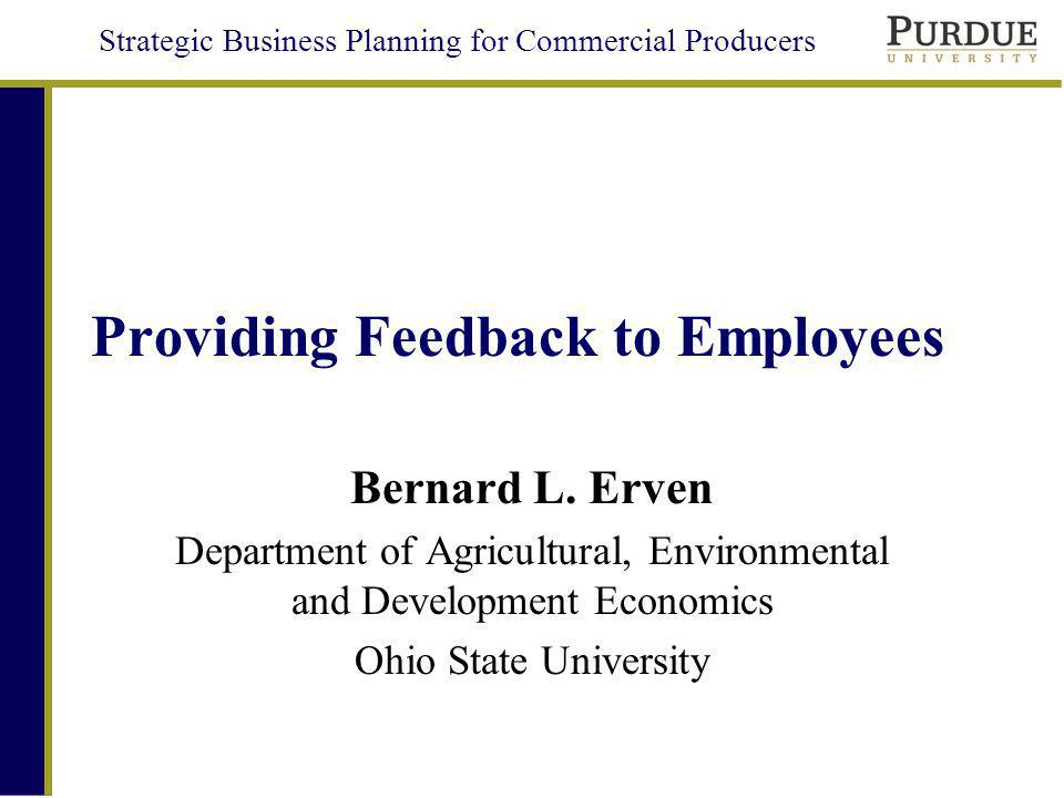 Providing Feedback to Employees