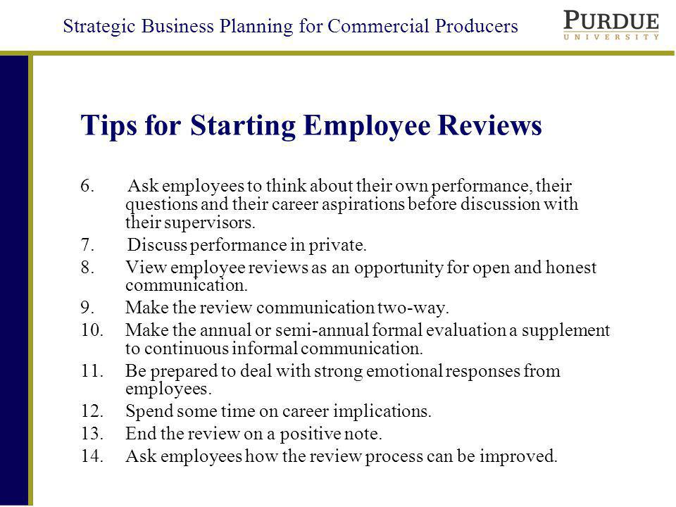 Tips for Starting Employee Reviews