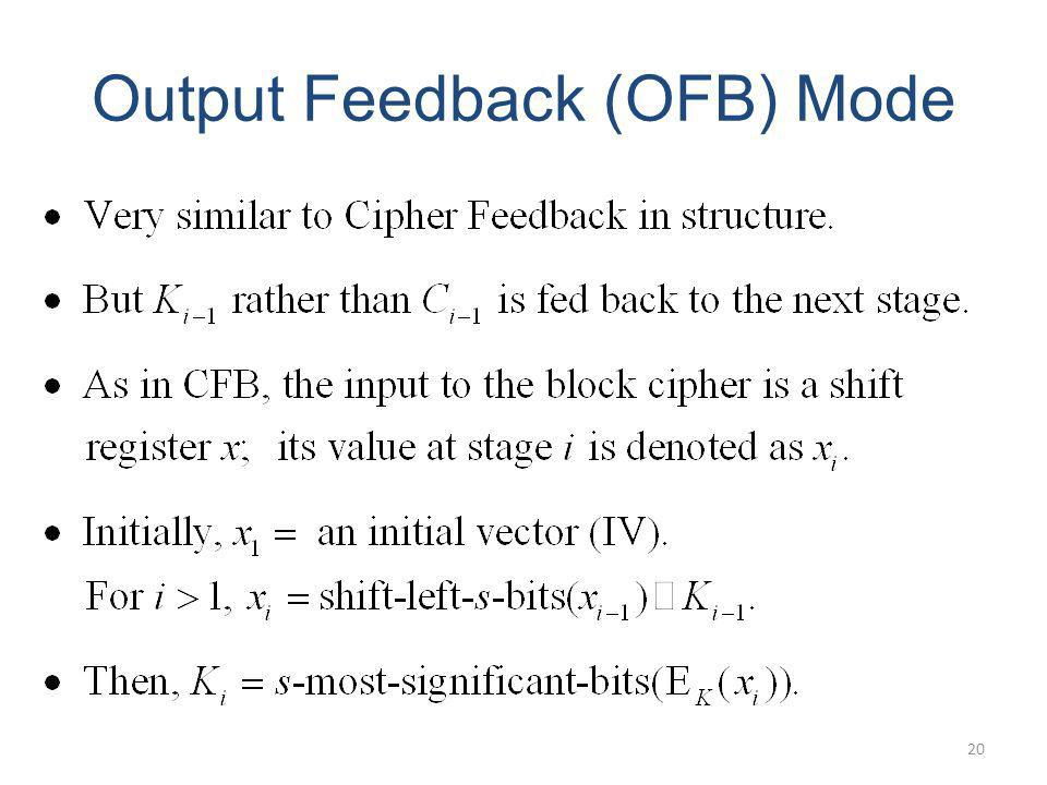 Output Feedback (OFB) Mode