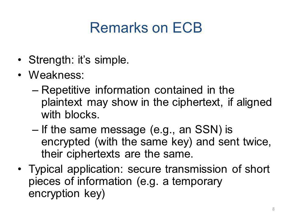 Remarks on ECB Strength: it's simple. Weakness: