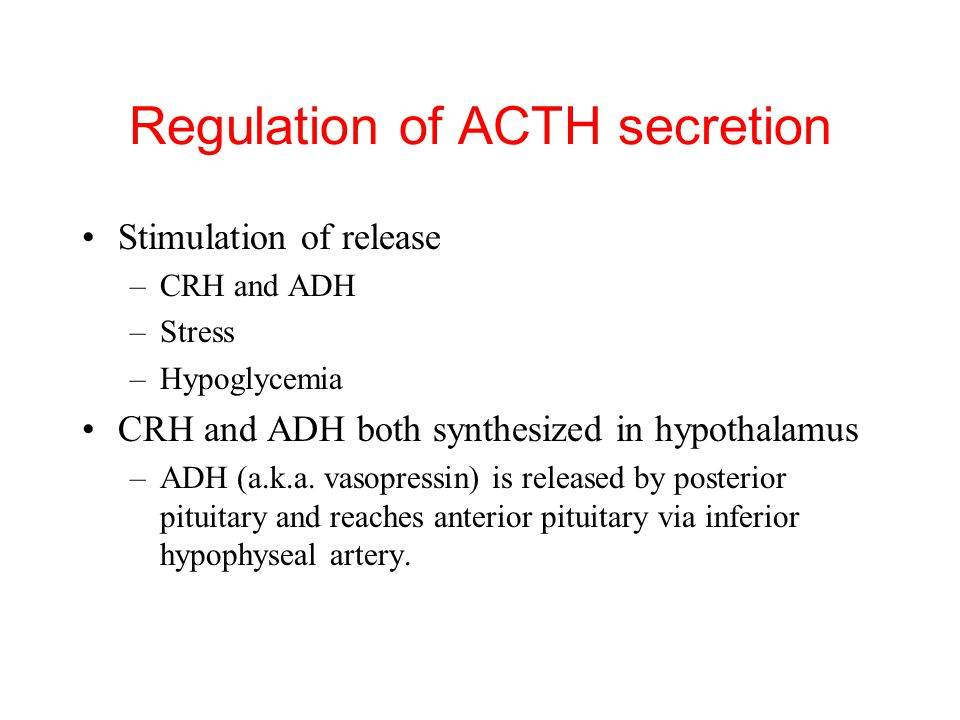 Regulation of ACTH secretion