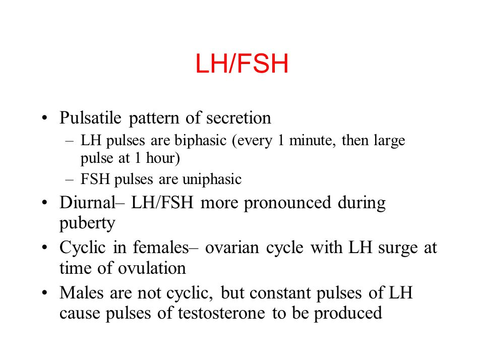 LH/FSH Pulsatile pattern of secretion