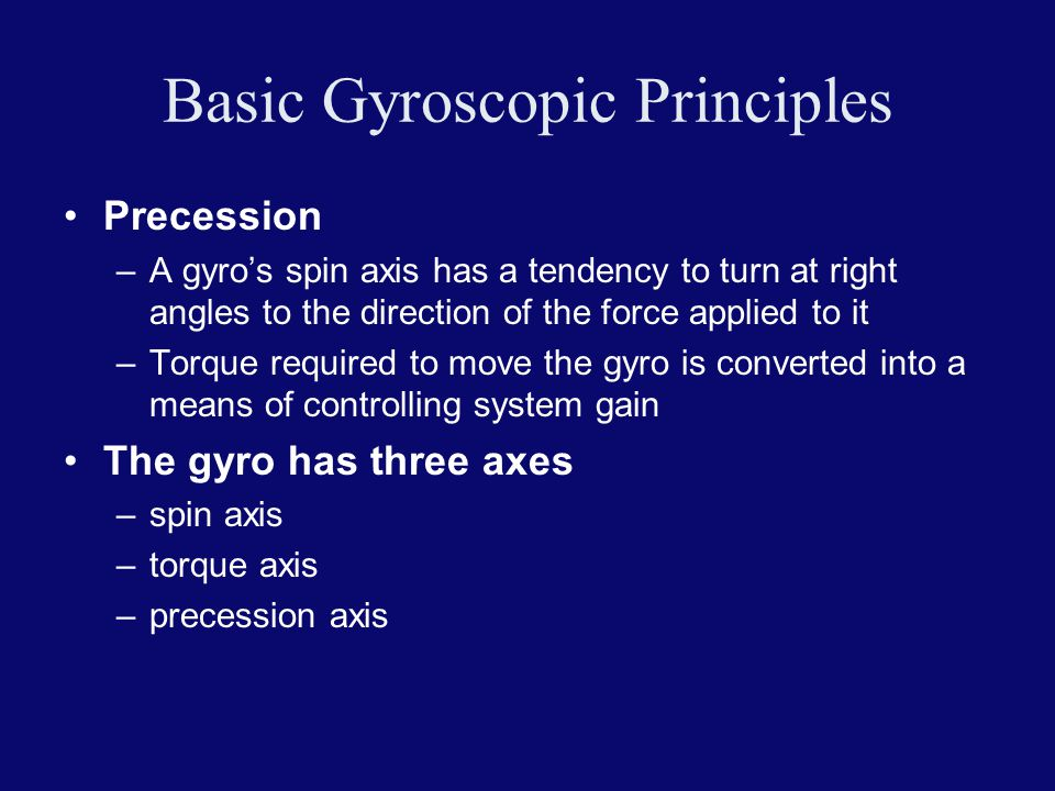 Basic Gyroscopic Principles
