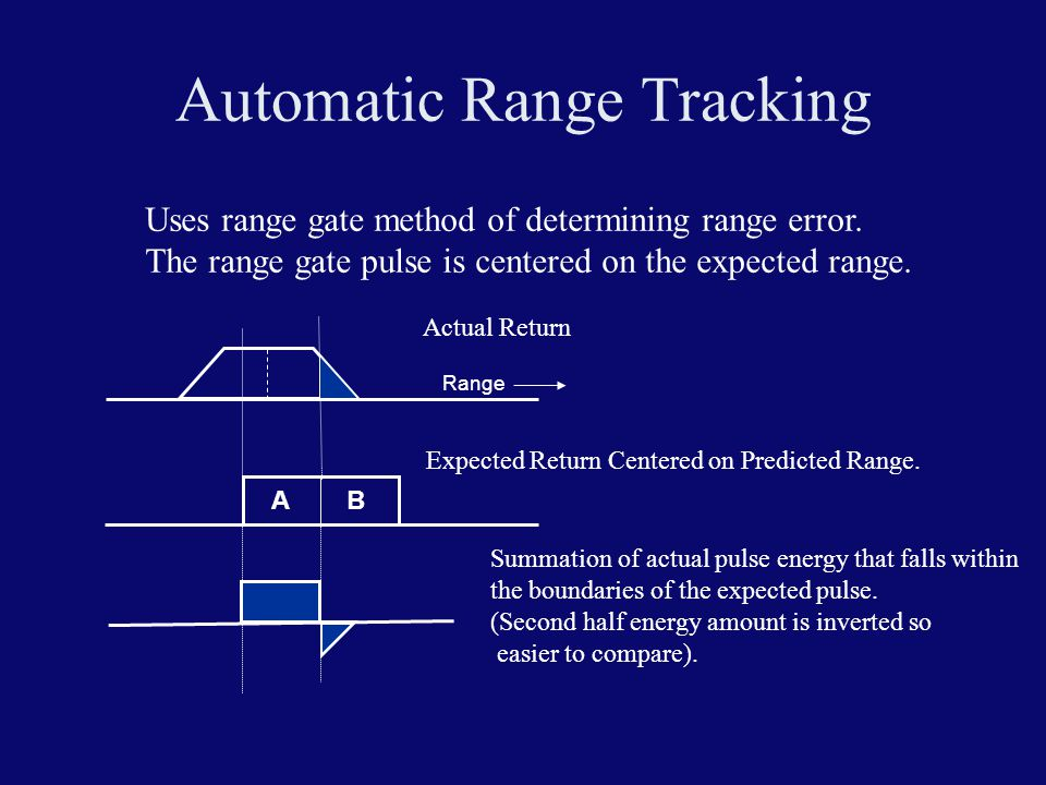 Automatic Range Tracking