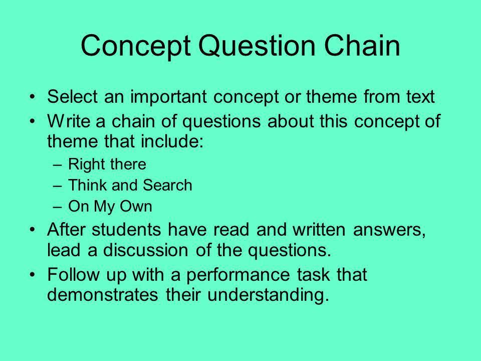 Concept Question Chain