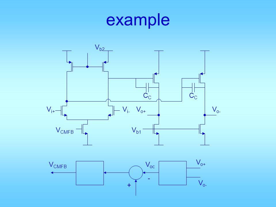 example Vb2 CC CC Vi+ Vi- Vo+ Vo- VCMFB Vb1 Vo+ VCMFB Voc - Vo- +