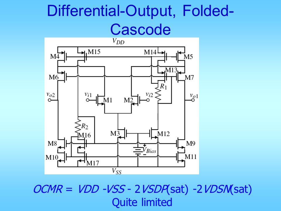 Differential-Output, Folded-Cascode