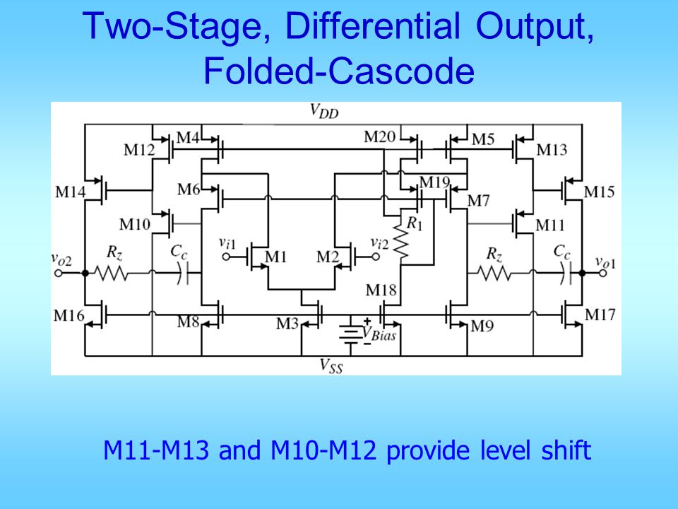 Two-Stage, Differential Output, Folded-Cascode