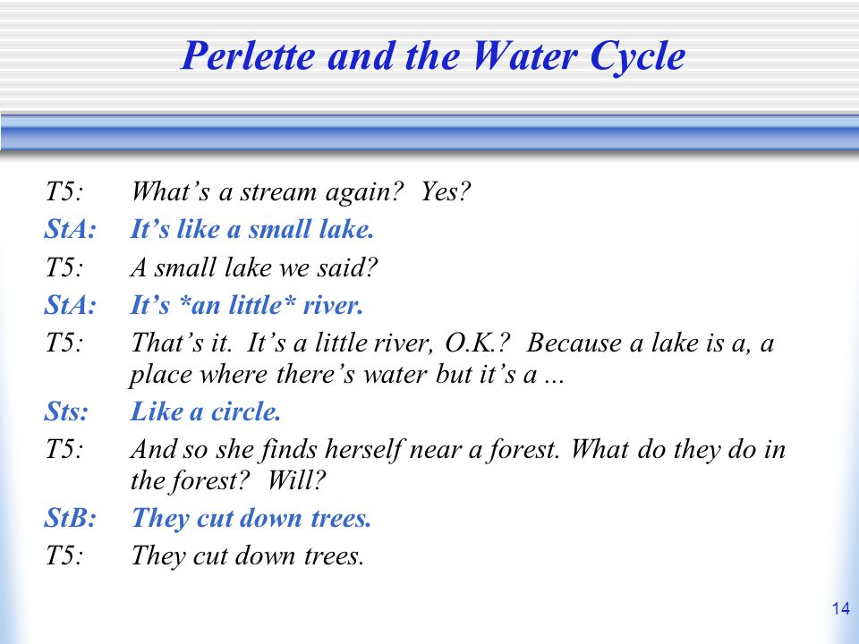 Perlette and the Water Cycle