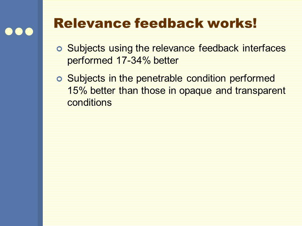 Relevance feedback works!