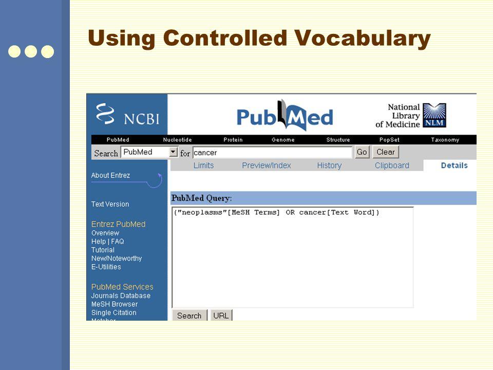 Using Controlled Vocabulary