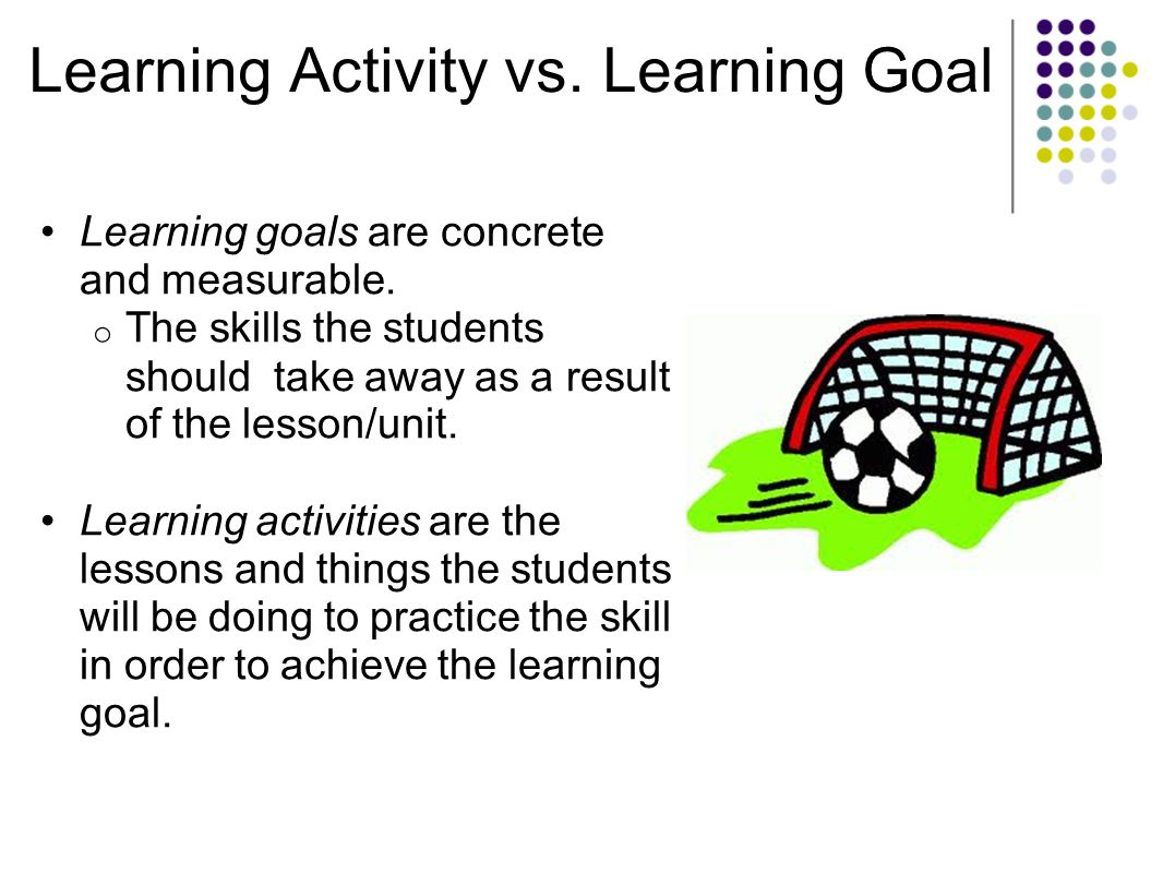 Learning Activity vs. Learning Goal