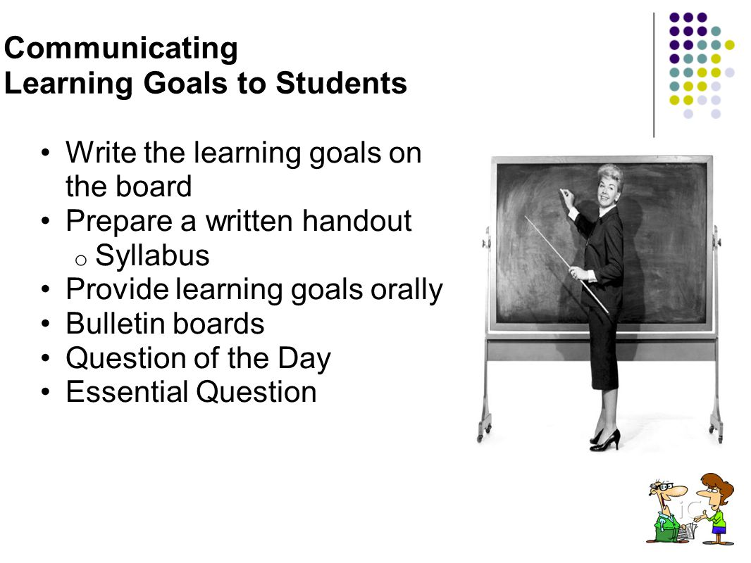 Communicating Learning Goals to Students