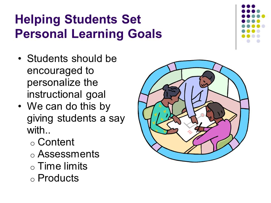 Helping Students Set Personal Learning Goals