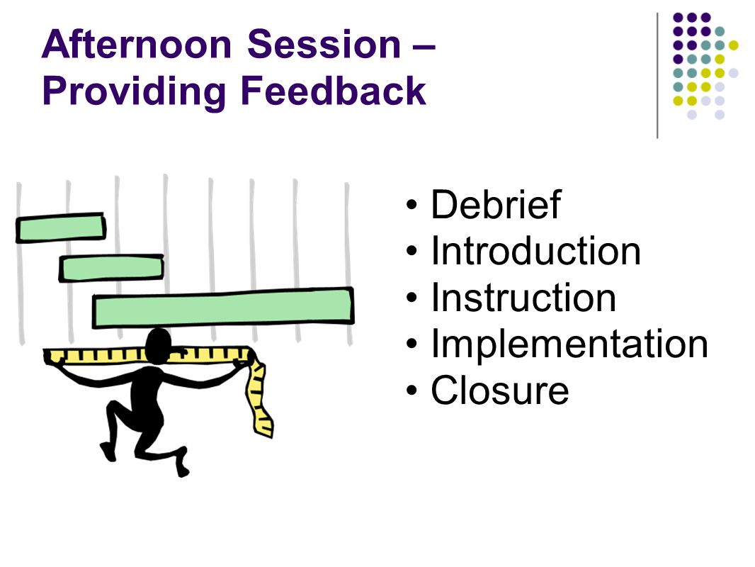 Afternoon Session – Providing Feedback