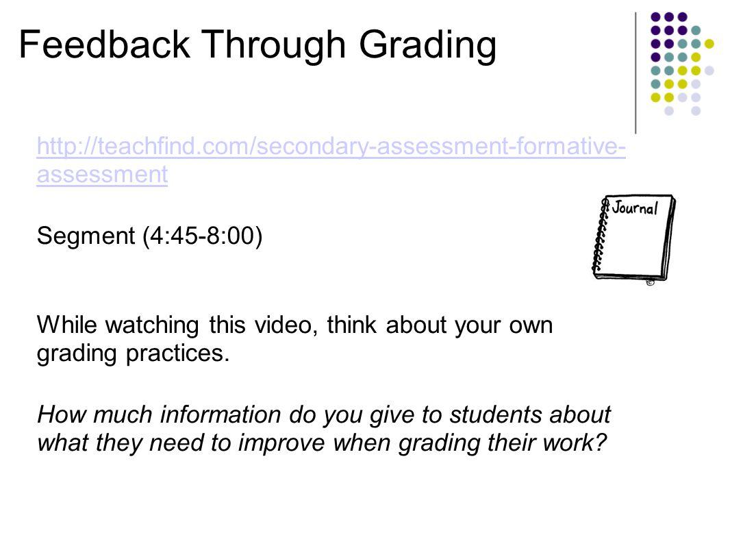 Feedback Through Grading