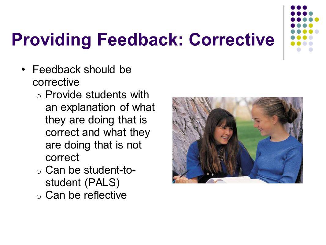 Providing Feedback: Corrective