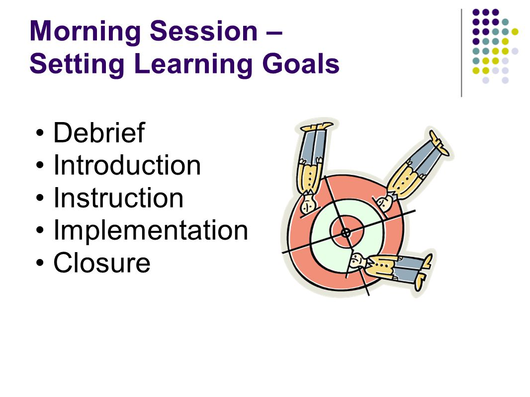 Morning Session – Setting Learning Goals