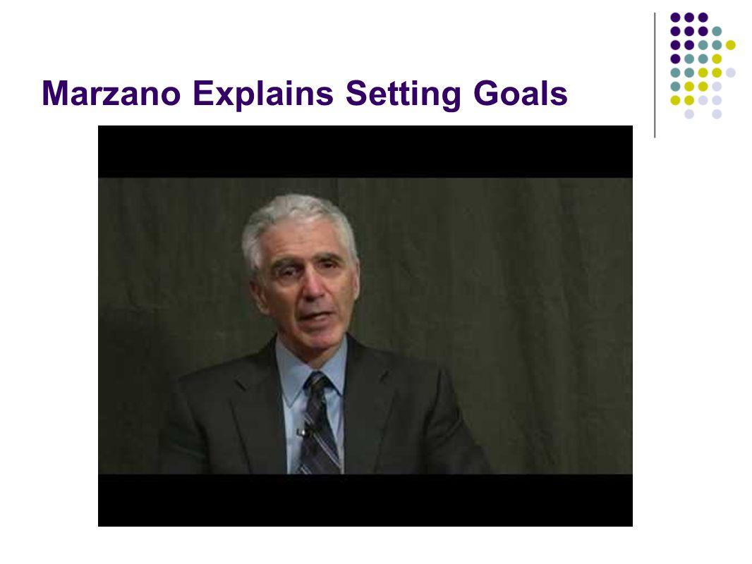 Marzano Explains Setting Goals