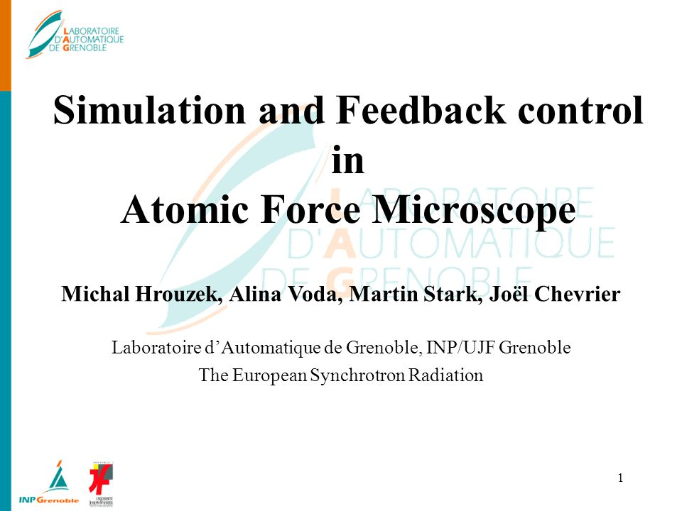 Simulation and Feedback control in Atomic Force Microscope