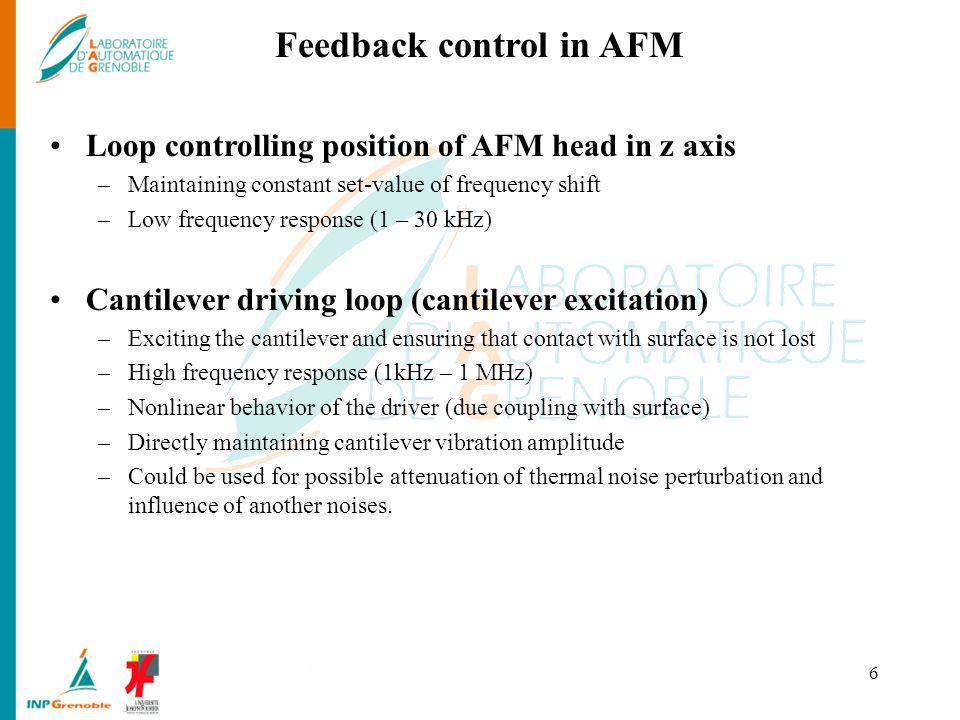 Feedback control in AFM