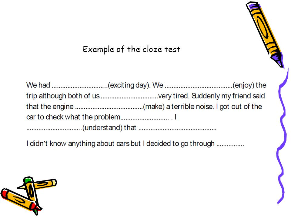 Example of the cloze test