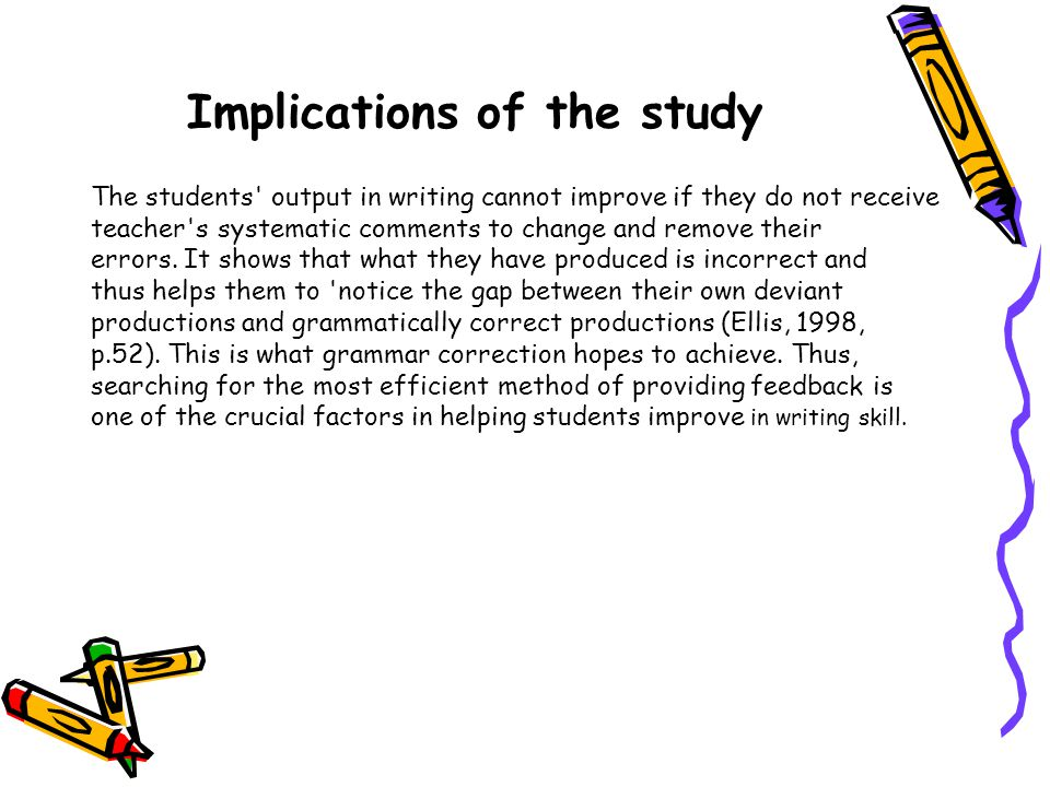 Implications of the study