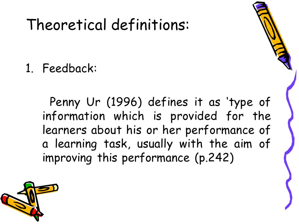 Theoretical definitions: