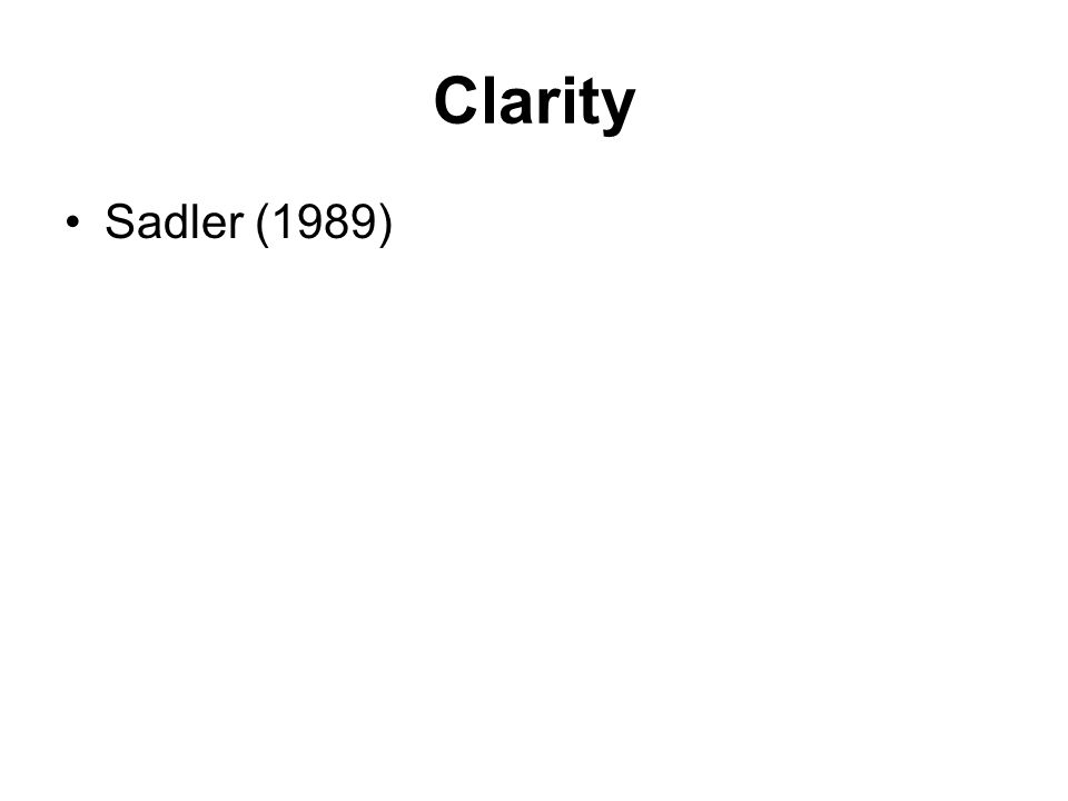 Clarity Sadler (1989)