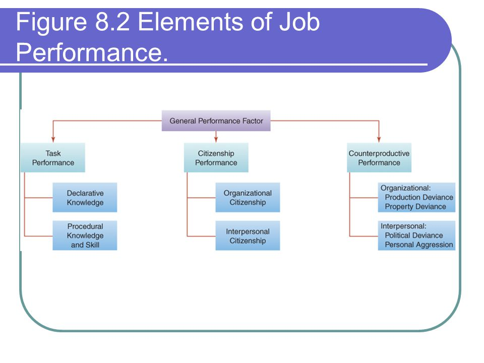 Figure 8.2 Elements of Job Performance.