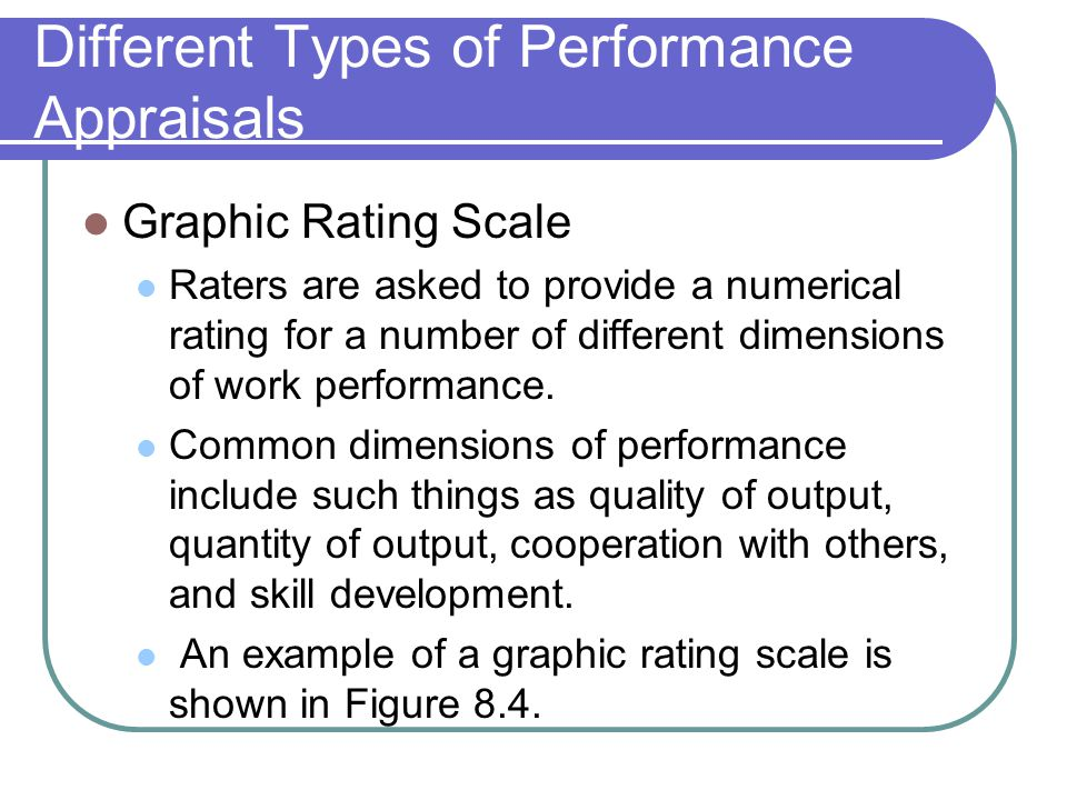 Different Types of Performance Appraisals