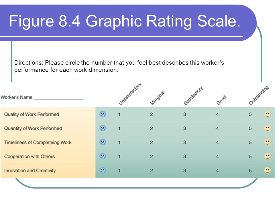 Figure 8.4 Graphic Rating Scale.
