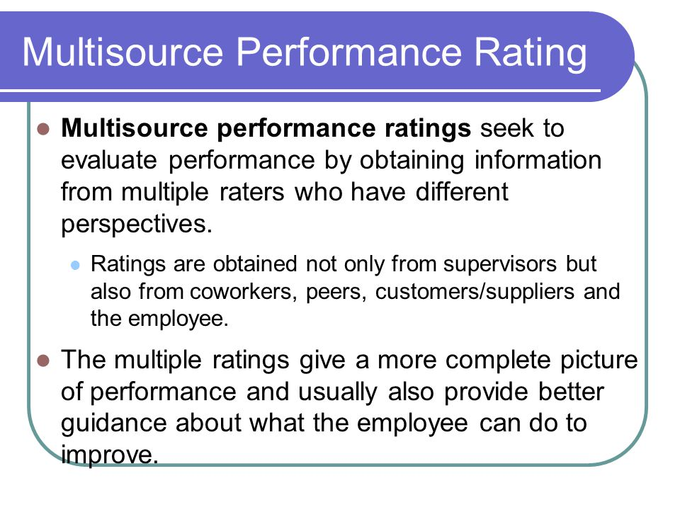 Multisource Performance Rating