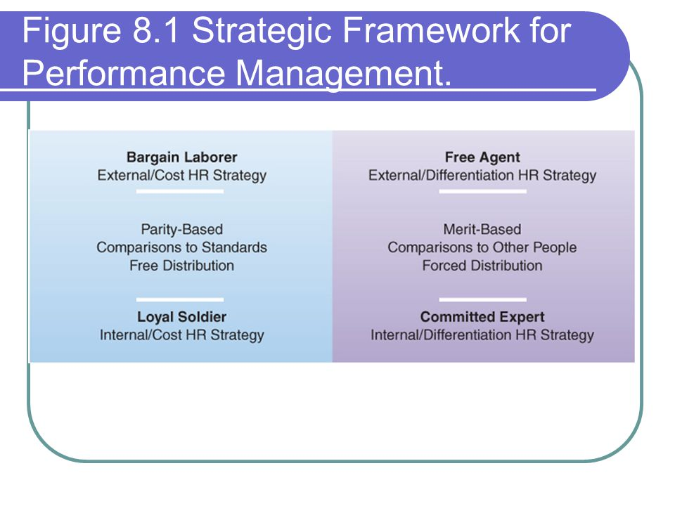 Figure 8.1 Strategic Framework for Performance Management.