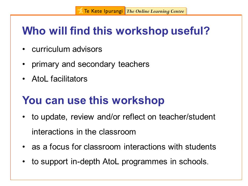 Who will find this workshop useful