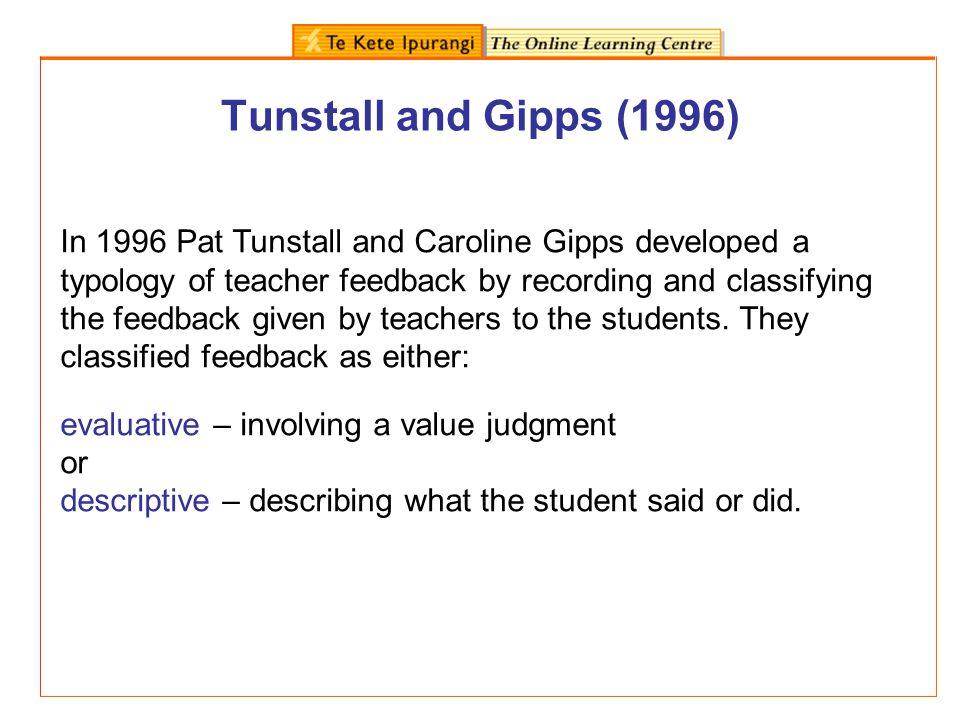 Tunstall and Gipps (1996)