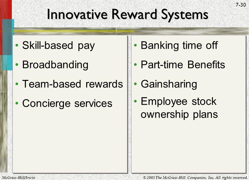 Innovative Reward Systems