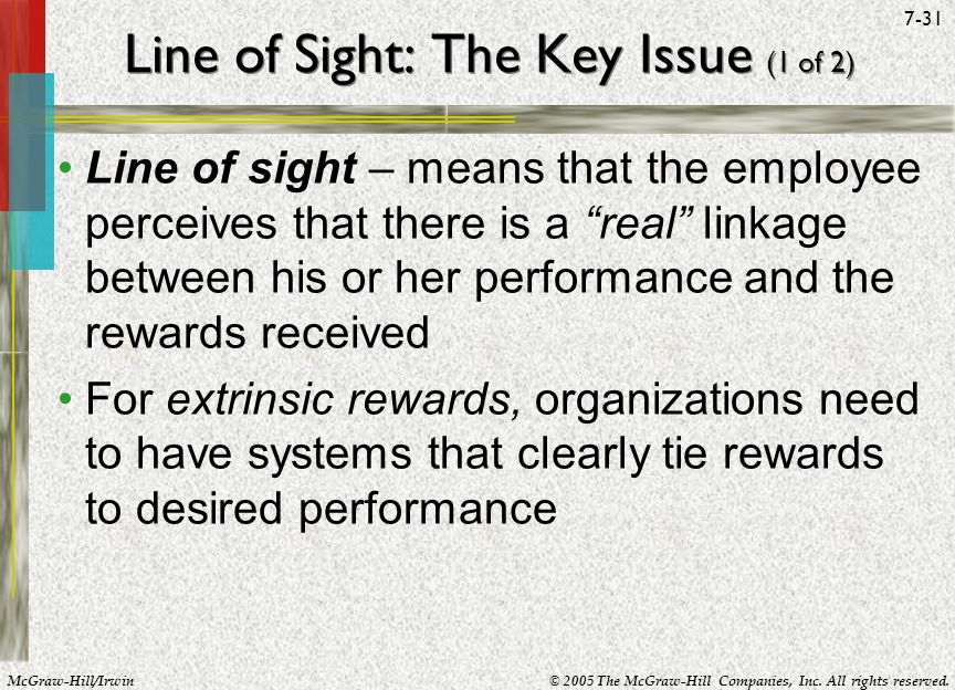 Line of Sight: The Key Issue (1 of 2)