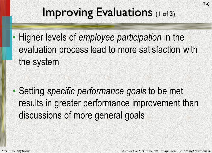 Improving Evaluations (1 of 3)