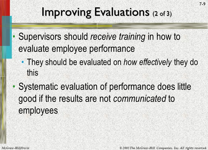 Improving Evaluations (2 of 3)