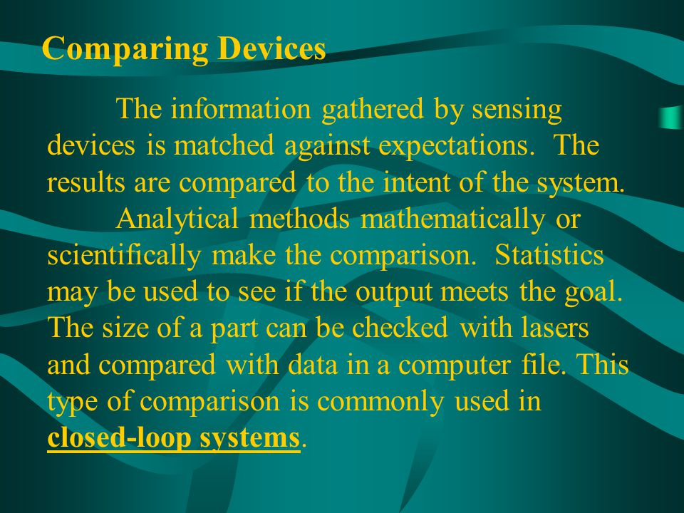 Comparing Devices