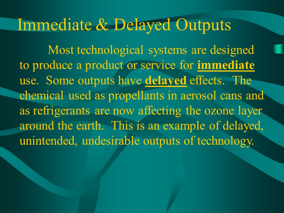 Immediate & Delayed Outputs