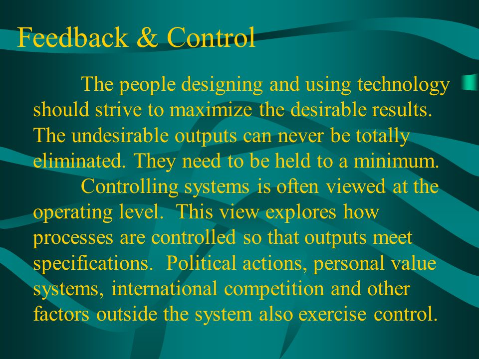 Feedback & Control