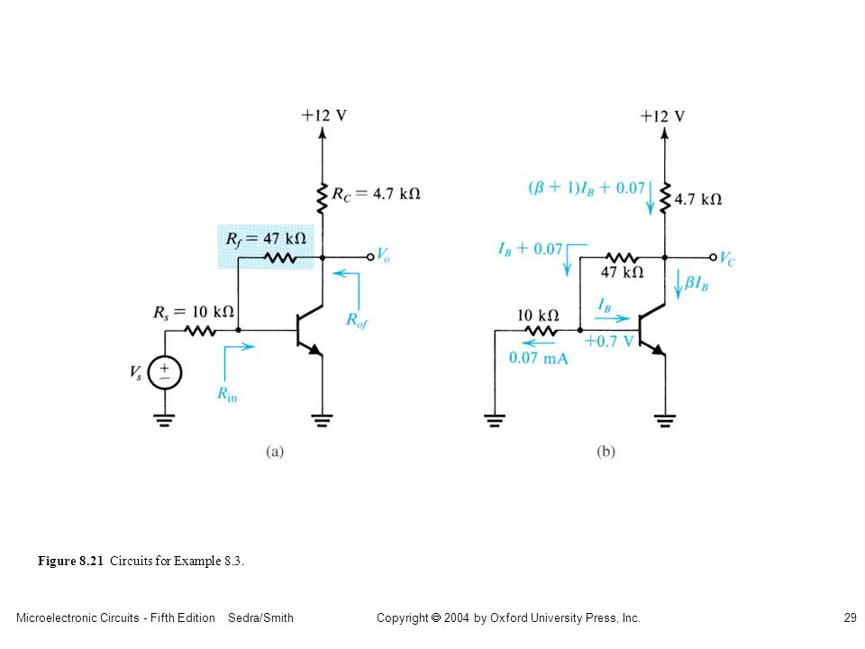 sedr42021_0821a.jpg Figure 8.21 Circuits for Example 8.3.