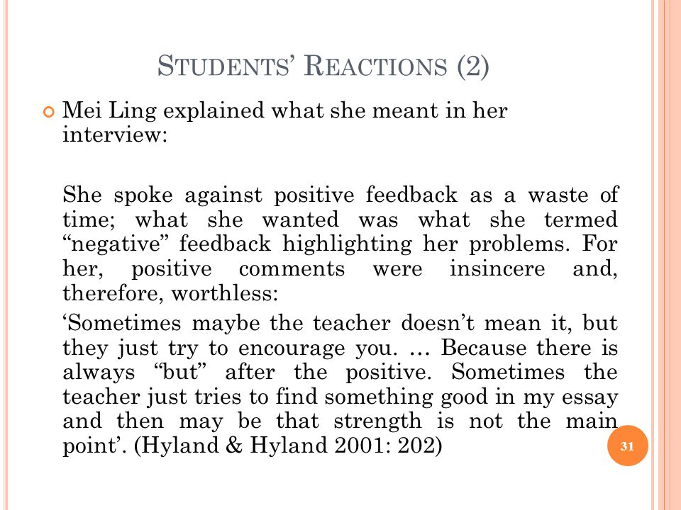 Students' Reactions (2)