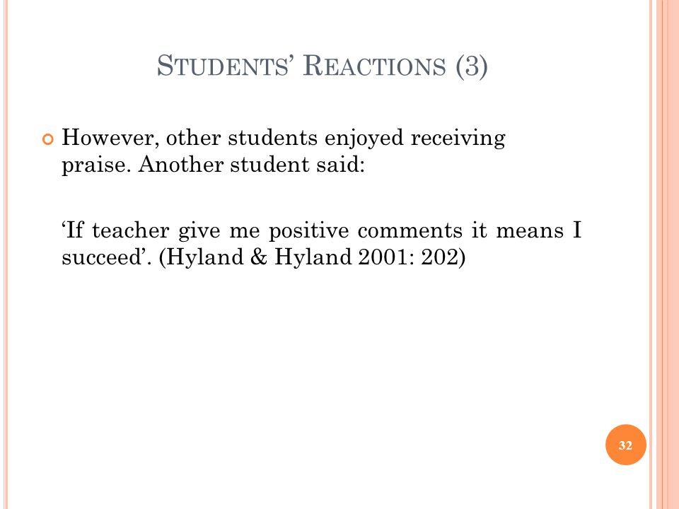 Students' Reactions (3)