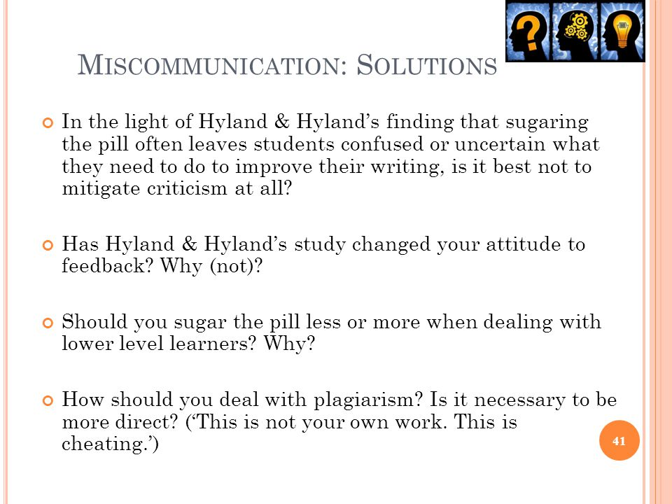 Miscommunication: Solutions